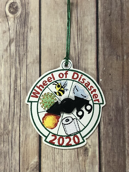 2020 Wheel of Disaster 3D Ornament - Made to Order
