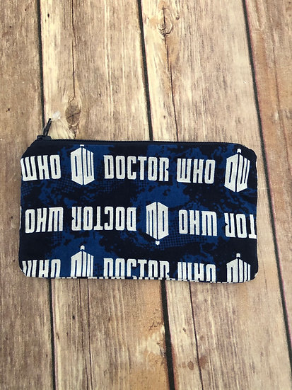 Doctor Who Tardis Zipper Pouch - Ready to Ship