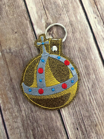 Holy Hand Grenade Embroidered Key Chain