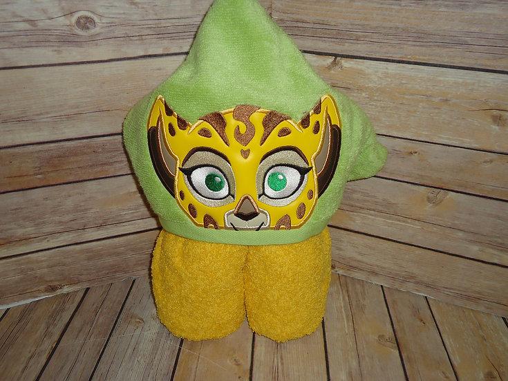 Cheetah Fuli Inspired Hooded Towel