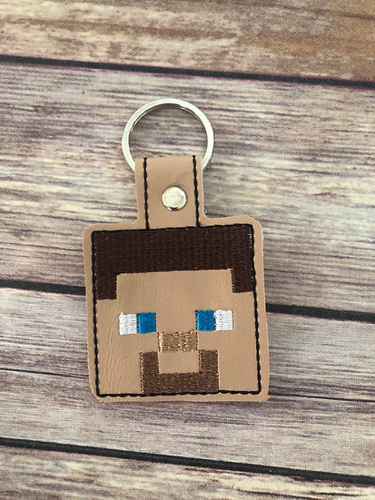 Steve Embroidered Key Chain