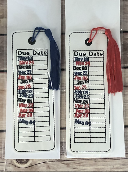 Library Card Due Date Vinyl Bookmark - Ready to Ship