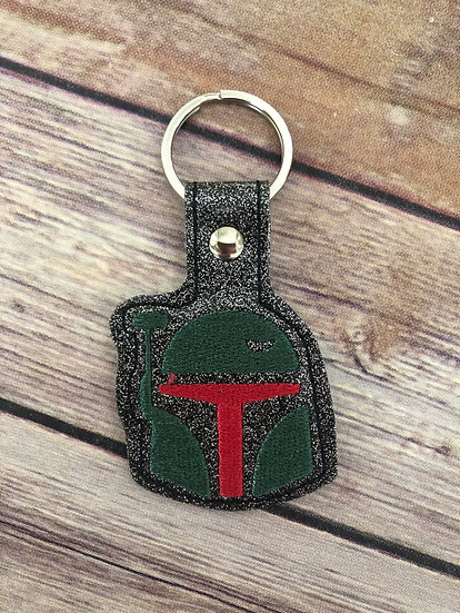 S W Boba Fett Embroidered Key Chain