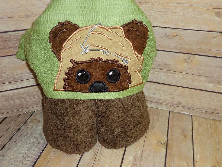 Galaxy Bear Hooded Towel