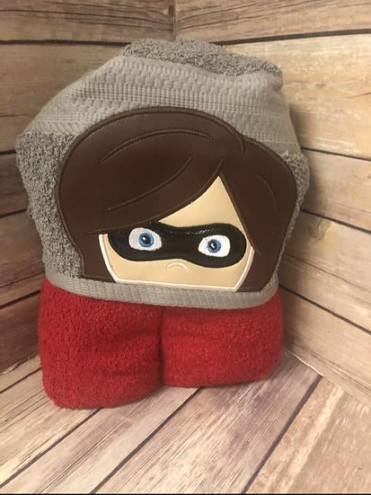 Elastigirl Child Size Hooded Towel - Ready to Ship