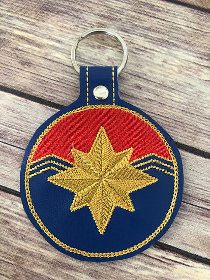 Captain Marvel Embroidered Key Chain