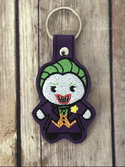 The Joker Chibi Embroidered Key Chain