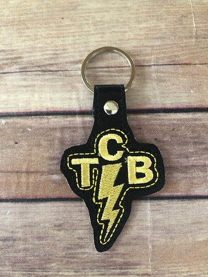 TCB Embroidered Key Chain