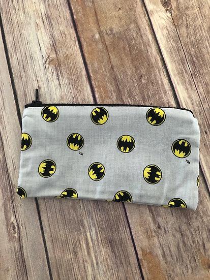 Batman symbol Zipper Pouch - Ready to Ship