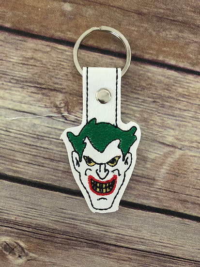 Joker Face Embroidered Key Chain