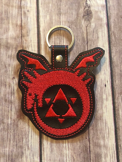 FMA Homoculus Embroidered Key Chain