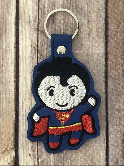 Superman Chibi Embroidered Key Chain
