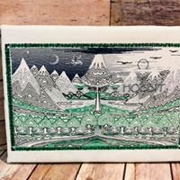 The Hobbit Book Cover - Embroidered Wall Art - Made to Order