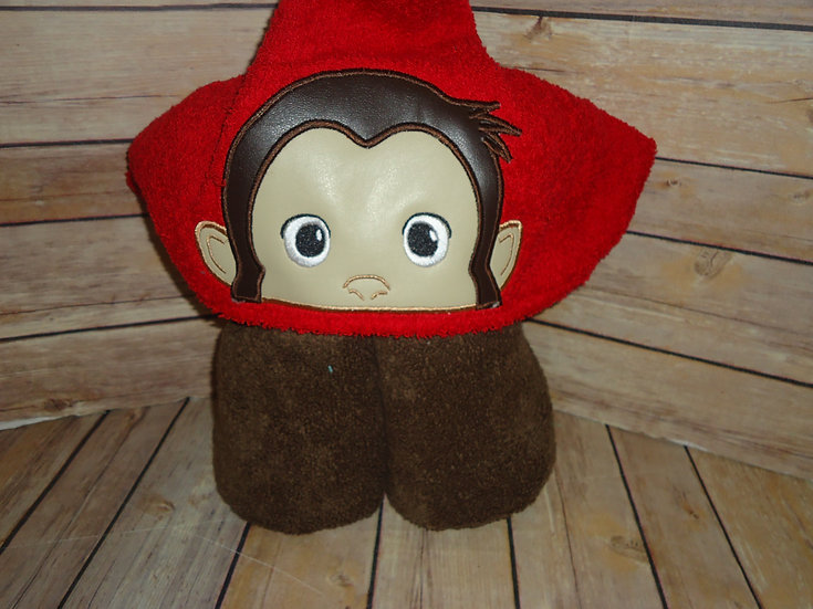 Curious George Inspired Hooded Towel