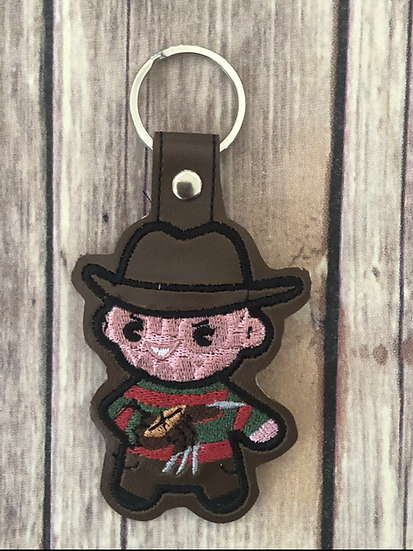 Freddy Chibi Embroidered Key Chain