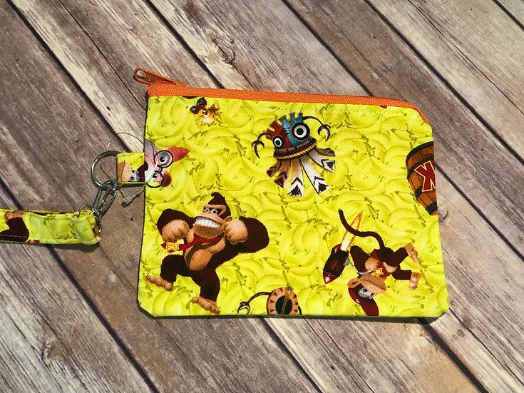 Donkey Kong themed Wristlet - Ready to Ship