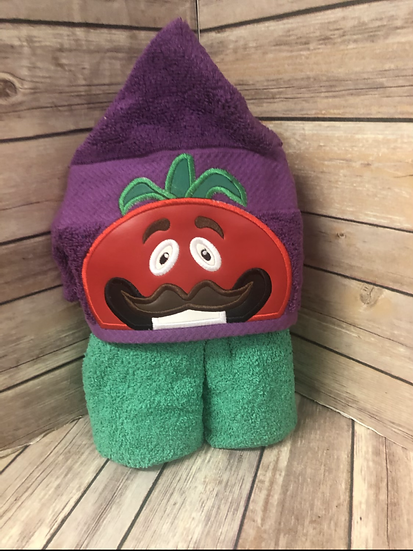 Tomato Child Size Hooded Towel - Ready to Ship