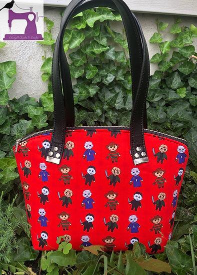 Horror Chibis Themed Lola Domed Handbag - Ready to Ship