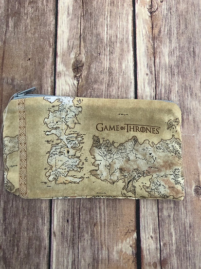 Game of Thrones Map  Zipper Pouch - Ready to Ship