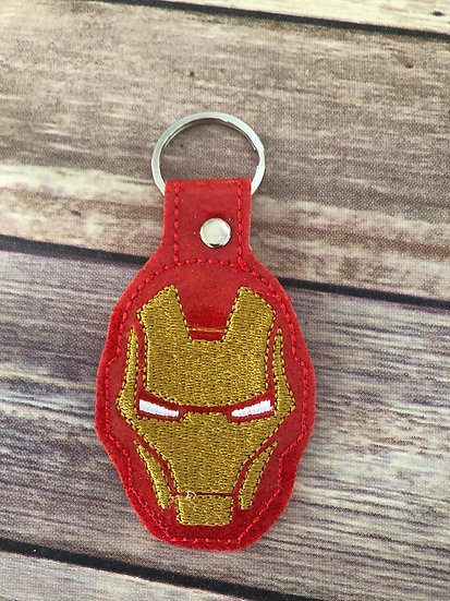 Iron Man Embroidered Key Chain