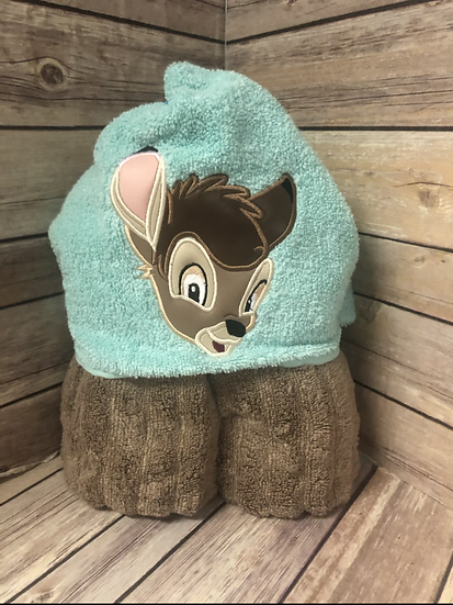 Bambi Child Size Hooded Towel - Ready to Ship