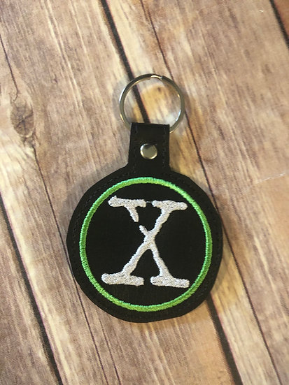 X-Files Embroidered Key Chain