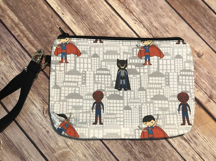 Superkids Themed Wristlet - Ready to Ship