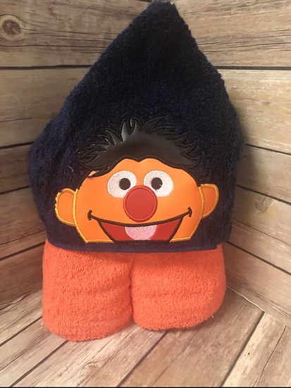 Ernie Child Size Hooded Towel - Ready to Ship