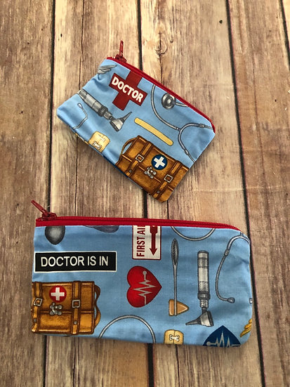 Doctor themed Zipper Pouch - Ready to Ship