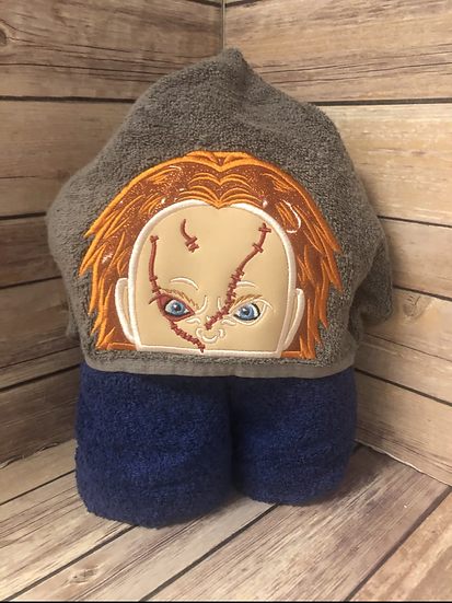 Chucky Child Size Hooded Towel - Ready to Ship