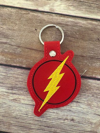 The Flash Embroidered Key Chain