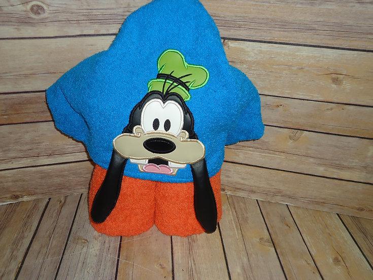 Wacky Dog 3D Hooded Towel