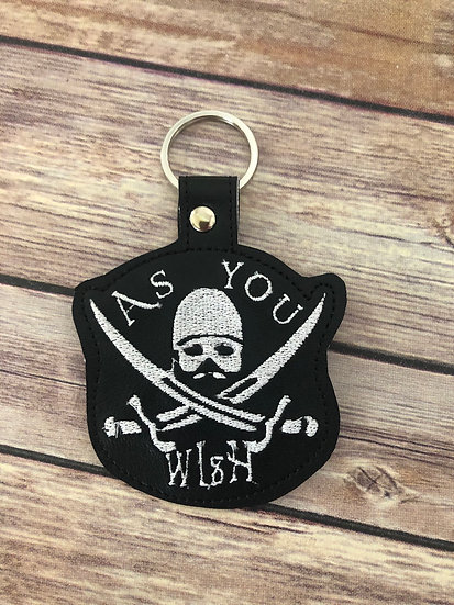 As You Wish Embroidered Key Chain