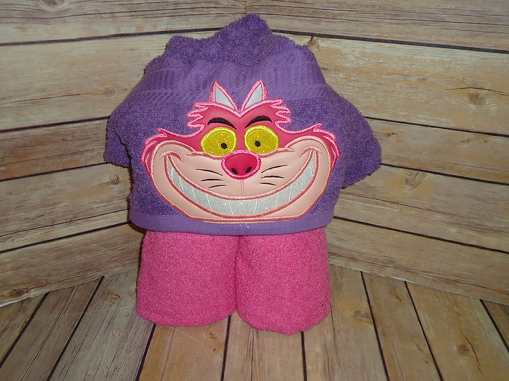 Cheshire Cat Inspired Hooded Towel