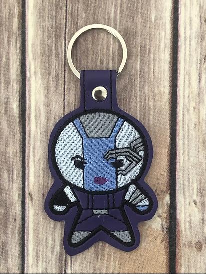Nebula Chibi Embroidered Key Chain