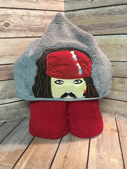 Jack Sparrow Inspired Hooded Towel