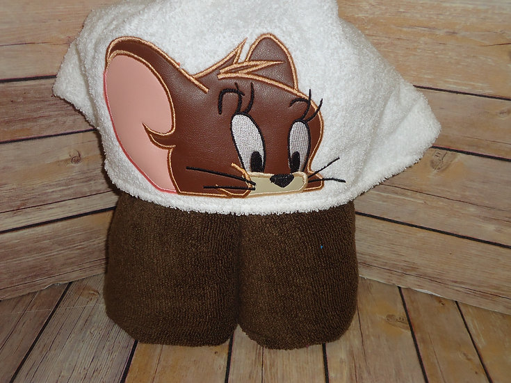 Jerry the mouse Inspired Hooded Towel