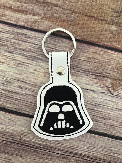 S W Darth Vader Embroidered Key Chain