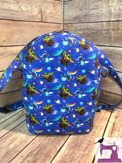 Blue Buddies Crypt Carrier Convertible Crossbody Backpack - Ready to Ship