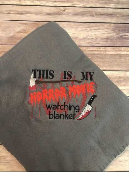 This is my HORROR MOVIE watching Blanket - Ready To Ship