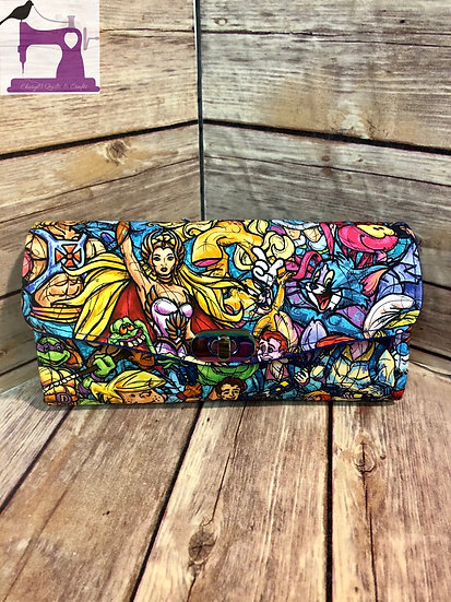 I Love the 80's themed Necessary Clutch Wallet-Ready to Ship