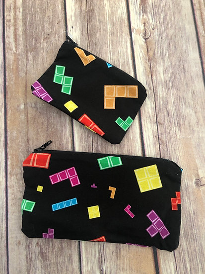 Tetris Zipper Pouch - Ready to Ship