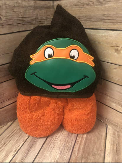 Michelangelo Child Size Hooded Towel - Ready to Ship