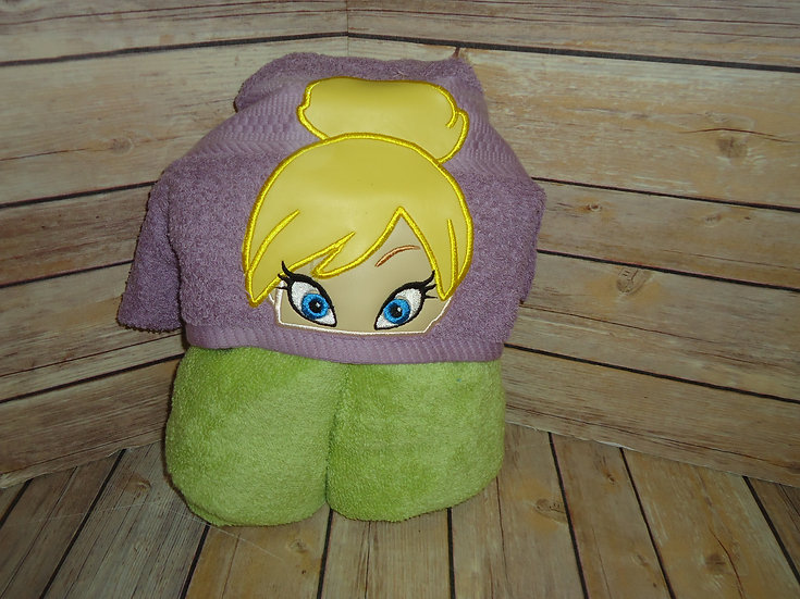 Tinkerbell Inspired Hooded Towel