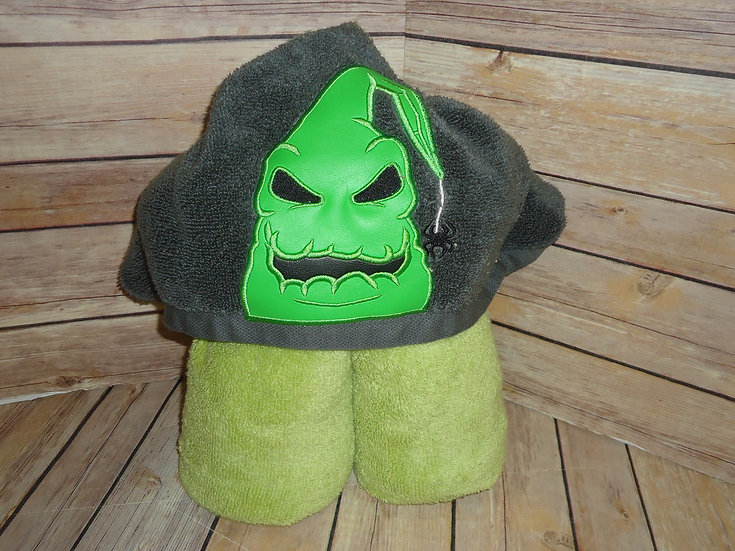 Oogie Boogie Inspired Hooded Towel