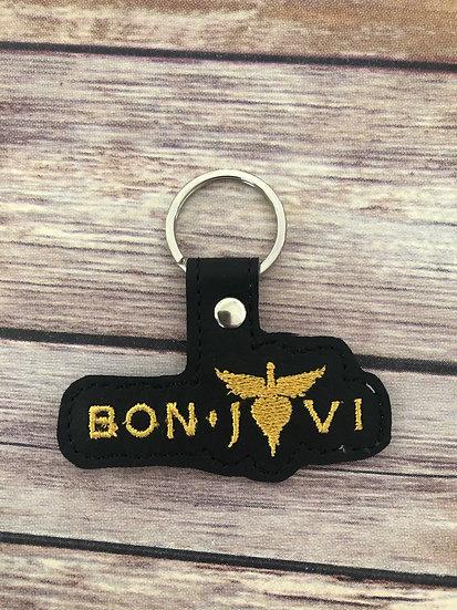 Bon Jovi Band Embroidered Key Chain