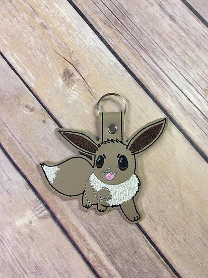 Pocket Monster Eevee Embroidered Key Chain