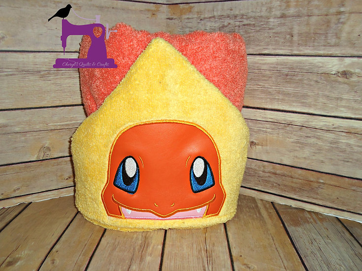 Pokemon Charmander Hooded Towel