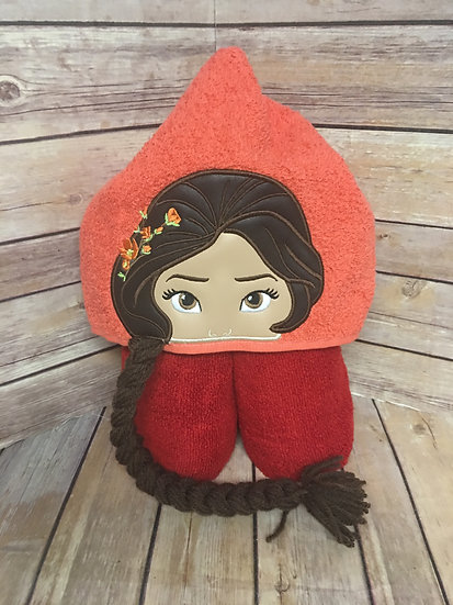 Elena of Avalor Inspired 3D Hooded Towel