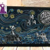Van Gogh Empire Starry Wars - Embroidered Wall Art - Made to Order
